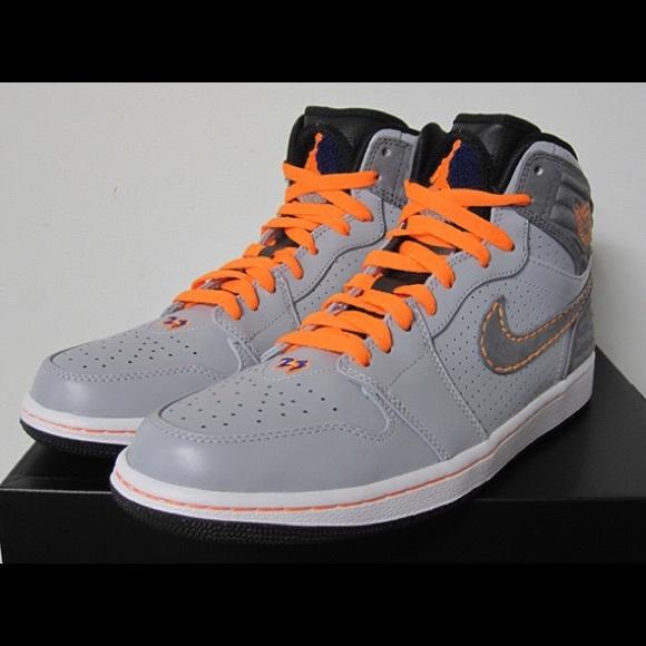 grey and orange jordan 1